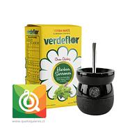 Pack VerdeFlor Yerba Mate + Matero y Bombilla Negro
