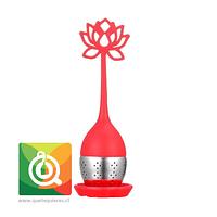 Infusor de Silicona Rojo -  Flor de Loto