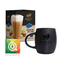 Pack Marley Coffee Tazón Negro + Capuchino Instantáneo Avellana