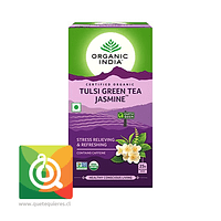 Organic India Infusión Té Verde Tulsi y Jazmín