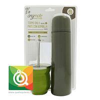 Anymate Termo Bala Verde + Matero con Bombilla Verde claro