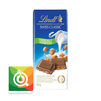 Lindt Chocolate Barra Leche y Avellana - Swiss Classic