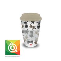 Oroley Mug Bambú Diseño Cafetera