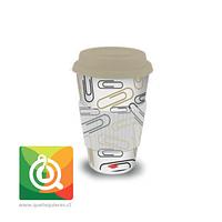 Oroley Mug Bambú Diseño Clips