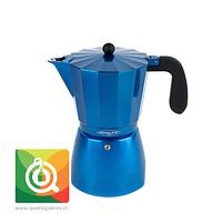 Oroley Cafetera Italiana Induccion Blue para 6 y 3 Tazas