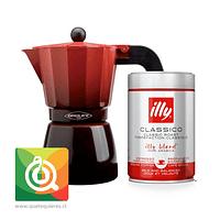Pack Oroley Cafetera Ecofund + Illy Café Clásico Espresso