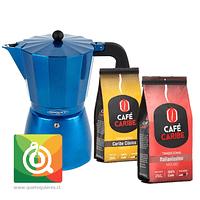 Pack Oroley Cafetera Blue + Café Caribe Tradicional Clasico + Italianissimo