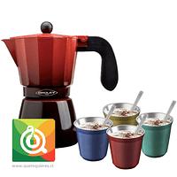 Pack Oroley Cafetera Ecofund + Keep Vasos Espresso
