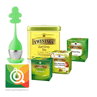 Pack Twinings Surtido de Tés + Infusor Silicona Verde