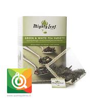 Mighty Leaf Variedad de Té Verde y Blanco