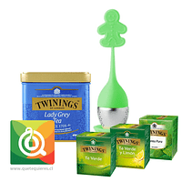 Pack Twinings Té Verde e Infusión + Infusor Silicona Verde