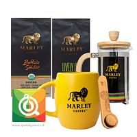 Pack Marley Coffee Tazón Amarillo + Prensa 350 ml + Cuchara + Café Buffalo Soldier + Lively Up
