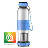 Sling Glass Botella Vidrio con Infusor Metálico - Celeste 550 ml