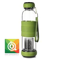 Sling Glass Botella Vidrio con Infusor Metálico - Verde 550 ml