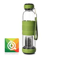 Sling Glass Botella Vidrio con Infusor Metálico - Verde