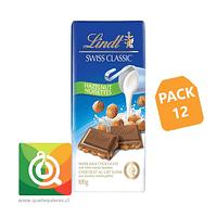 Pack 12 Lindt Chocolate Barra Leche y Avellana - Swiss Classic