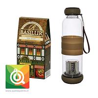 Pack Basilur Té Verde Tienda de Té + Sling Glass Botella de Vidrio Café
