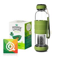 Pack Higher living Te Verde Chai + Sling Glass Botella Verde