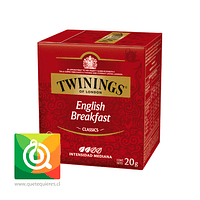 Twinings Té Negro English Breakfast 10 x 2 gr
