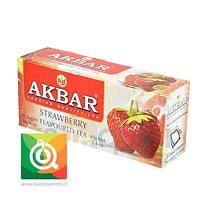 Akbar Té Negro Frutilla