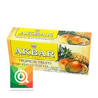 Akbar Té Negro Frutos Tropicales