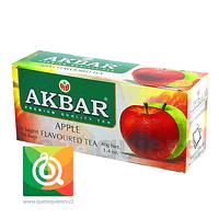 Akbar Té Negro Manzana