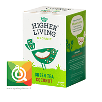 Higher Living Té Verde Orgánico Coco - Organic Green Tea Coconut