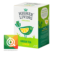Higher Living Té Verde Orgánico Limón - Organic Green Tea Lemon