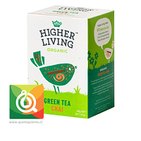 Higher Living Té Verde Orgánico Chai - Organic Green Tea chai