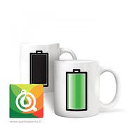 Kikkerland Mug Té y Hierbas Diseño Batería Cambia de Color - Mug Battery