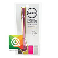 Keep Bombilla de Mate Color Fucsia