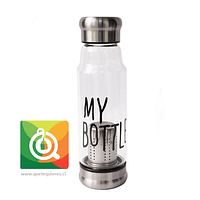 Botella Infusora My Bottle con funda (tapa plateada)