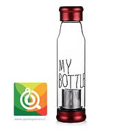 Botella Infusora My Bottle con funda (tapa roja)