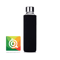 Botella Infusora con funda 500 ml Negra
