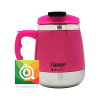 Keep Mug Taza Outdoor Gorda 400 ml Fuccia / Negro