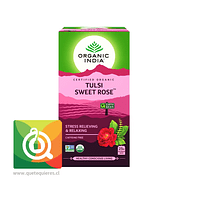 Organic India Tulsi Sweet Rose - Infusión Orgánica Tulsi y Rosas Dulces