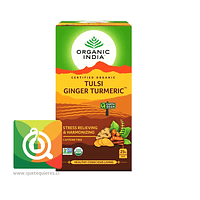 Organic India Tulsi Ginger Turmeric- Infusión Orgánica Tulsi Jengibre y Curcuma