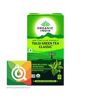 Organic India Tulsi Green Tea - Infusión Orgánica Tulsi y Té Verde