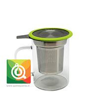 Glasso Mug de Vidrio con Infusor Acero 450 ml Verde
