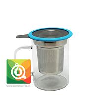 Glasso Mug de Vidrio con Infusor Acero 450 ml Celeste