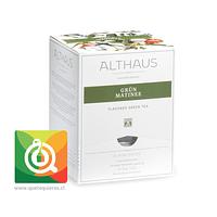 Althaus Té Verde Grun Matine - Té Verde Pétalos de Flores 15 pirámides