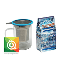 Mug Infusor Vidrio + Frosty Afternoon Basilur