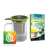 Mug Infusor Vidrio + Té Verde Jazmín Dilmah