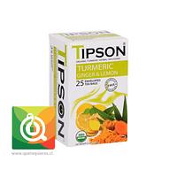 Tipson Turmeric Ginger Lemon - Infusión Orgánica Jengibre, Curcuma  y limón