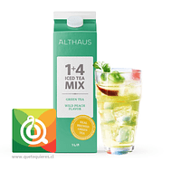 Althaus Té Helado 100% Natural - Té Verde con Durazno Rinde 5 lt