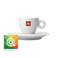 Illy Taza con platillo Expresso Logo Illy