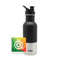 Keep Botella de Agua Metálica con Pituto Negra