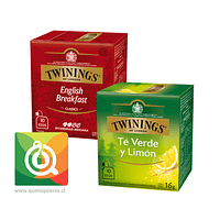 Twinings Bipack English Breakfast + Té Verde Limón