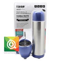 Mate Set Keep Matero 230 ml, Bombilla y Termo 500 Morado