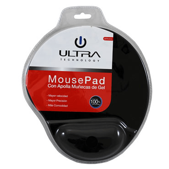 PAD MOUSE GEL ULTRA  NEGRO TWC